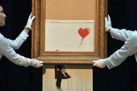 Изрезанную картину Бэнкси продали за 18 миллионов фунтов